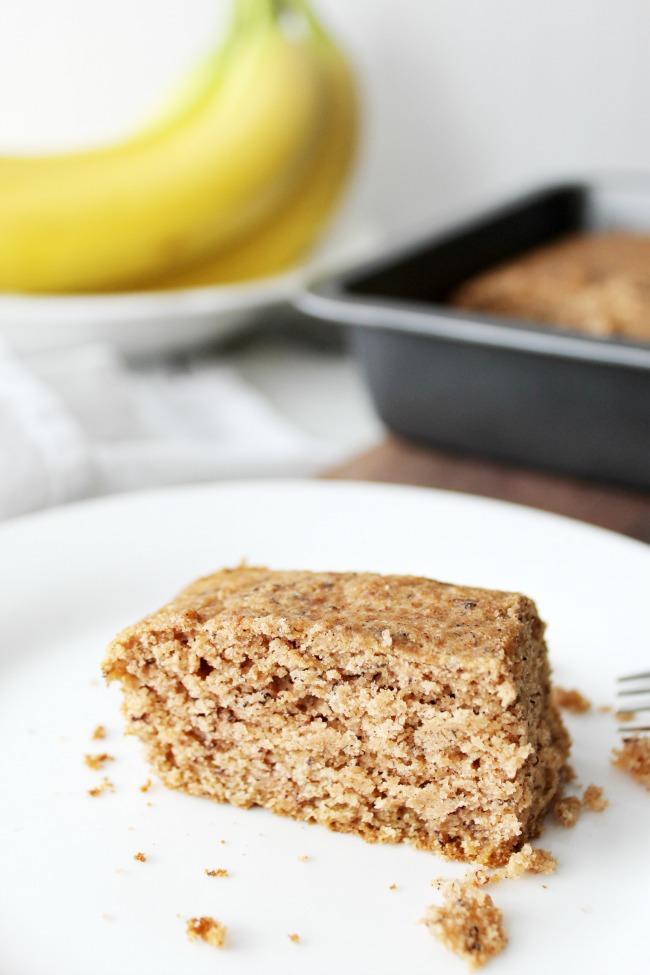 Banana Snacking Cake Gluten-Free www.bestofthislife.com 650x975
