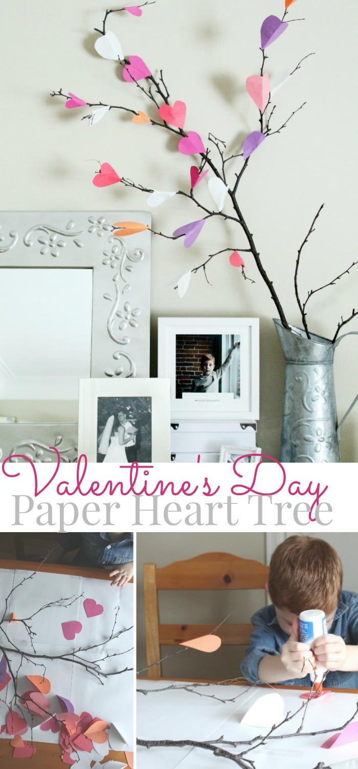 Valentine's Day Paper Heart Tree