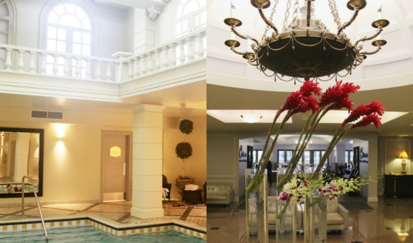Grand hotel pool and lobby