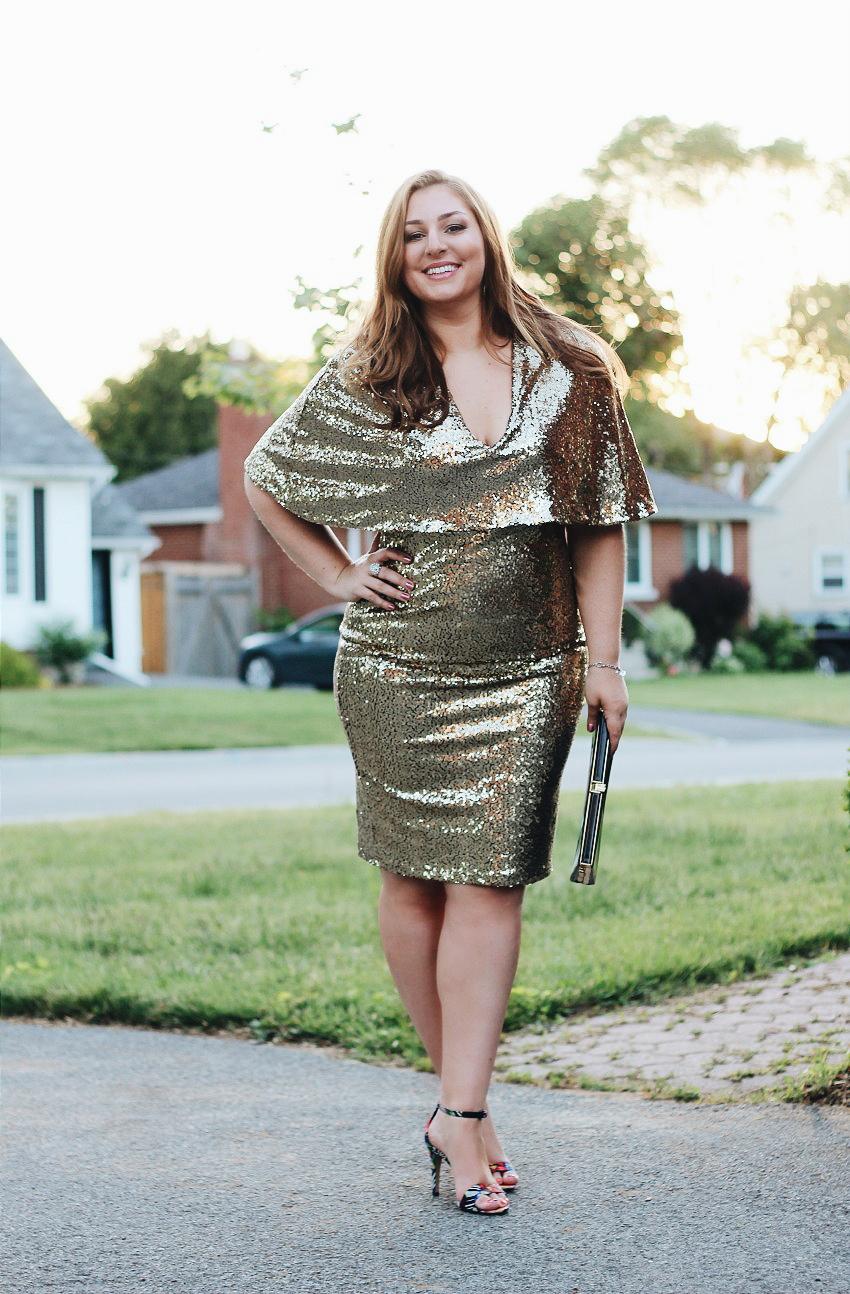 Gold Sequin Dress Styled bestofthislife.com