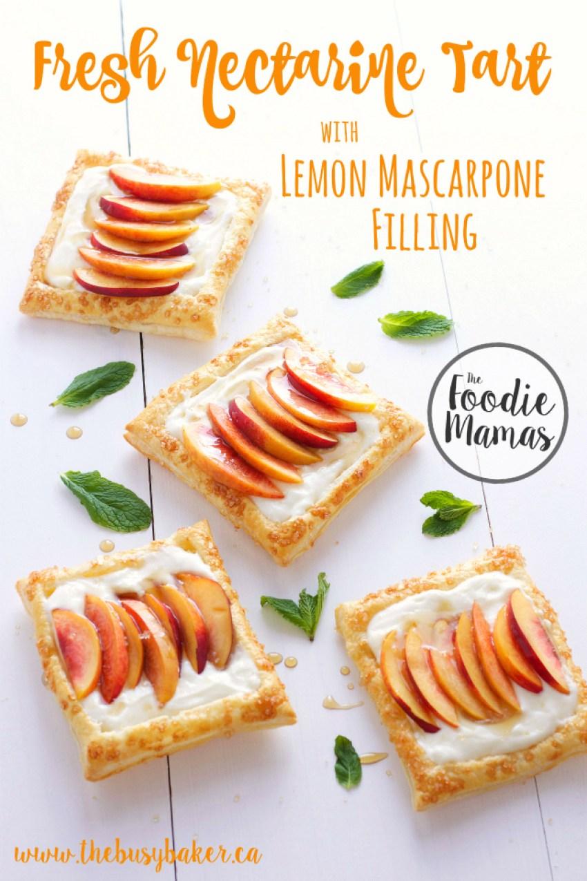fresh nectarine tart lemon mascarpone filling title foodiemamas