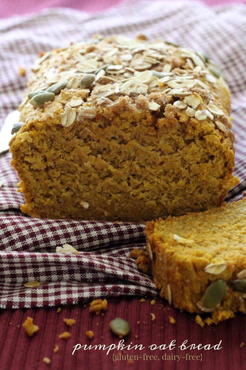 Gluten-Free Pumpkin Oat Bread
