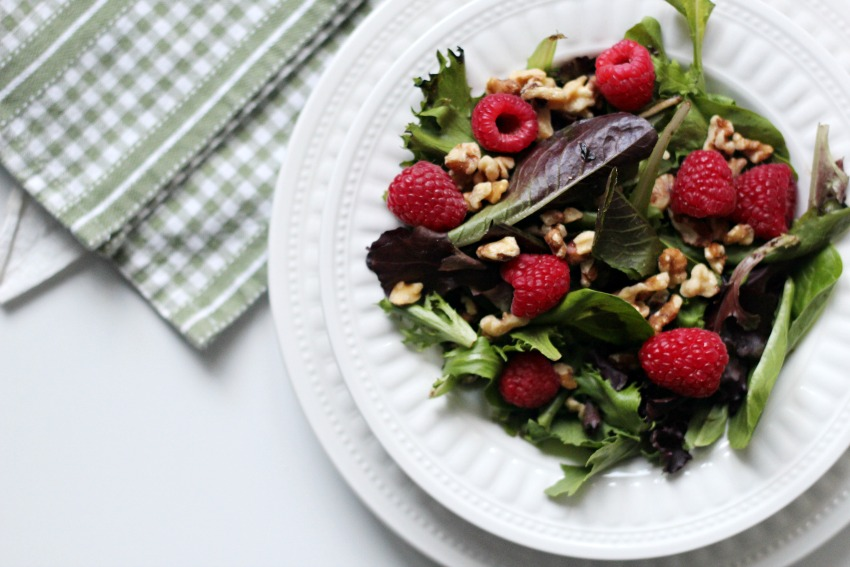 Easy & Beautiful Raspberry Walnut Winter Salad