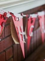 How To Make Shabby Chic Bunting For Your Canada Day Party