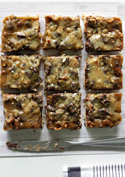 Gluten-Free Toasted Sesame Caramel Chocolate Bars + Giveaway!