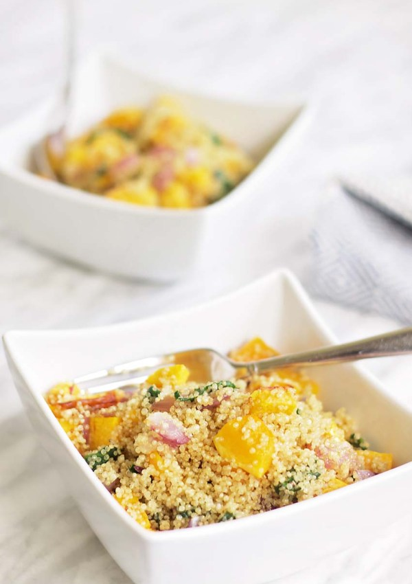 Butternut Squash, Spinach, and Quinoa Casserole