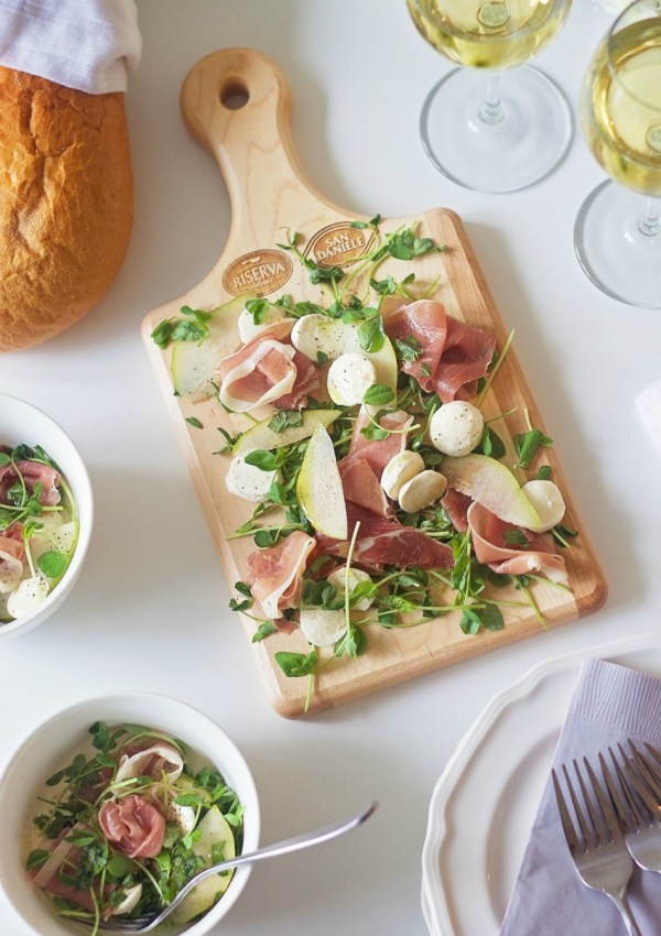 An Elegant Prosciutto, Pear and Bocconcini Salad Appetizer