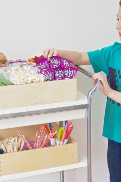 How to Create a Simple Snack and Activity Station for Kids