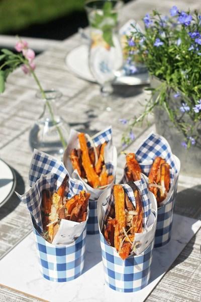 Parmesan and Thyme Sweet Potato Fries