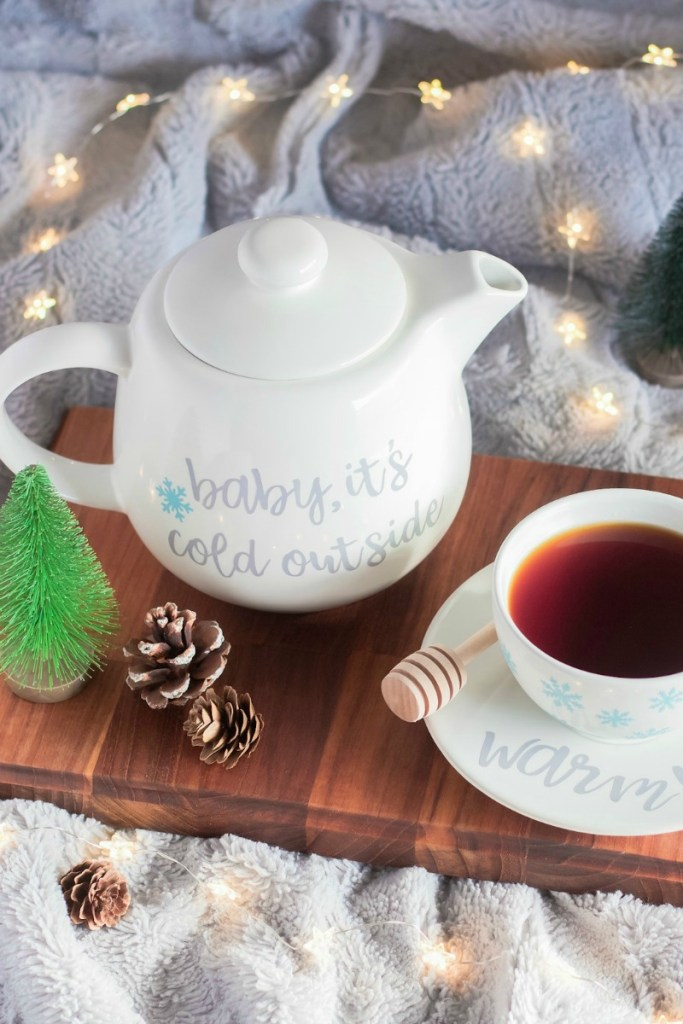 Custom Tea Pot Set Cricut Maker