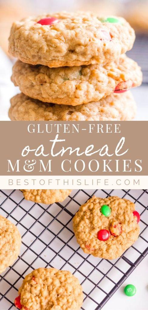 gluten-free m&m cookies