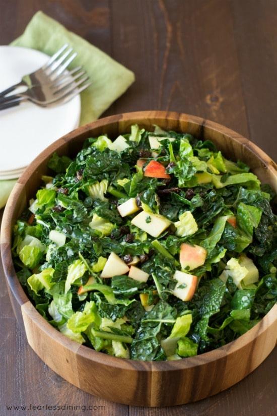 Kale Salad with Apples Recipe | kid friendly healthy salad