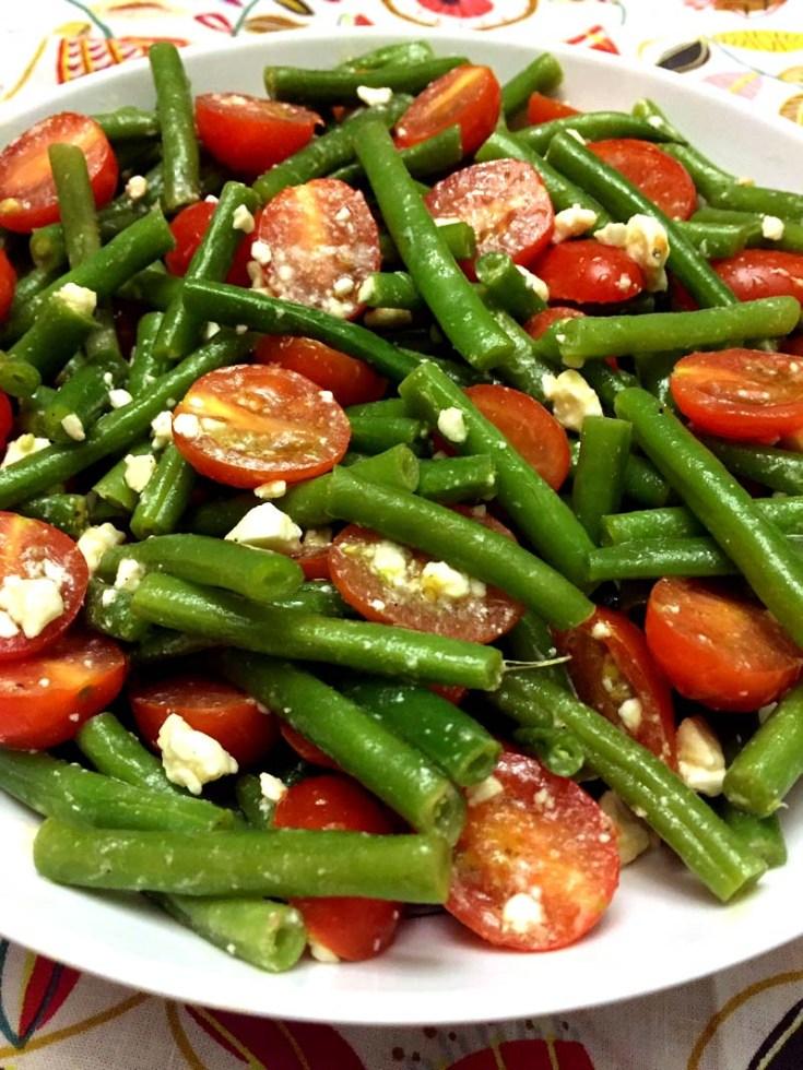 Green Beans Tomato Feta Salad Recipe