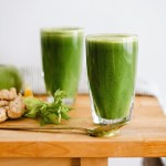 green juice in glass