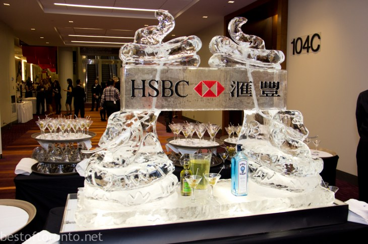 HSBC Ice Luge Sculpture