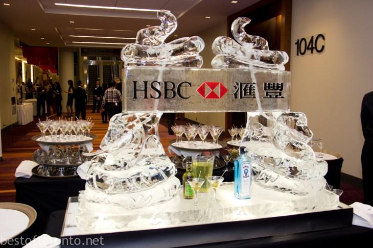 HSBC Ice Luge Sculpture