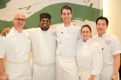 The chefs from Tundra Restaurant, Hilton Hotel