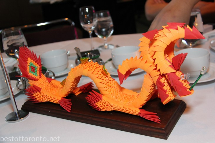 Each centerpiece of Dragon Ball took 20 hours to make, courtesy of Yee Hong seniors