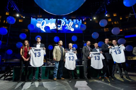 Sponsors: Rogers, Cisco, Samsung, Ericsson being recognized as Curve Ball Grand Slam sponsors Photo: Michelle Prata