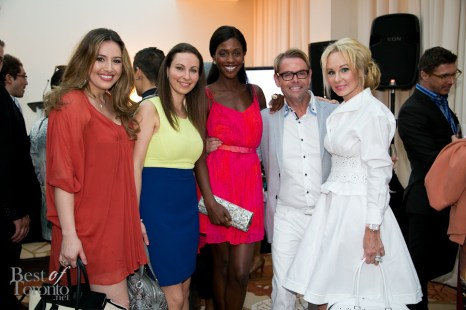 CAFA committee members: Brittney Kuczynski, Vicky Milner with CAFA Ambassadors: Tenika Davis (actress), Glenn Dixon (designer), Suzanne Rogers (philanthropist)