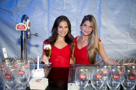 The Stella Artois booth