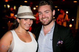 After-dinner drinks with friends: Eryne Ordel, Brock McLaughlin