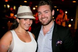 After-dinner drinks with friends: Eryne Ordel, Brock McLaughlin