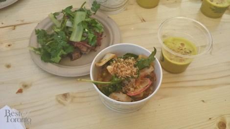 Momofuku Shoto: Brisket with Tiger Vegetables, Cuttlefish Salad, Crab Soup