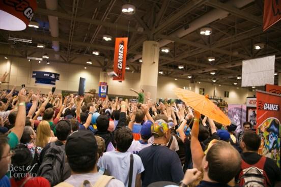 A huge gathering for EB Games giveaways