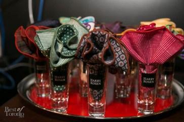 Pocket circles in Harry Rosen shot glasses