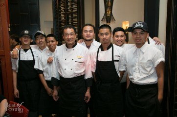 Chef Wing Li and the crew