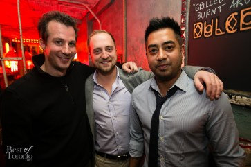 The Tequila Tromba boys (Eric Brass and Pete) with Dave Sidhu (Playa Cabana)