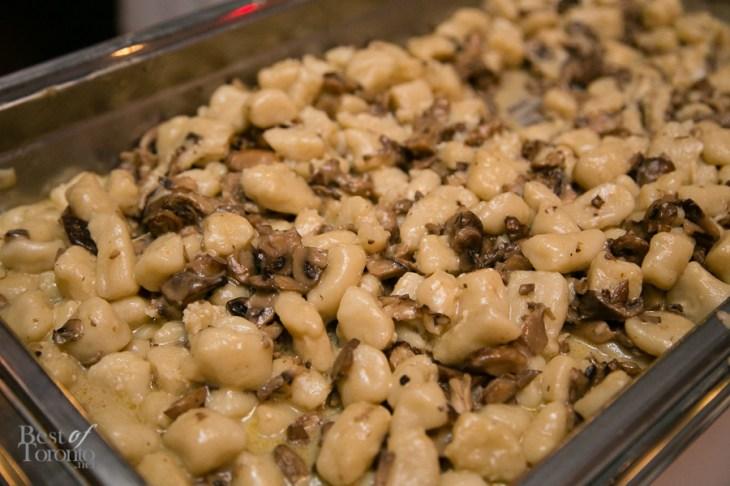 Potato gnocchi, mushroom ragout, butternut squash cream