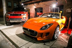 Then new Jaguar F-Type and Range Rover at the entrance of Storys Building
