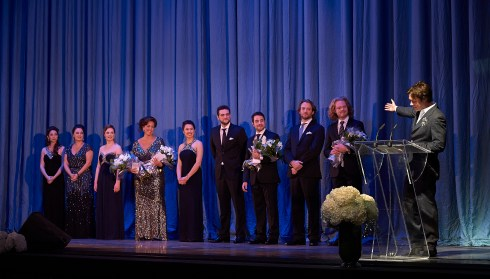 Ensemble Studio Competition finalists and winners with Centre Stage host Rufus Wainwright | Photo: Michael Cooper