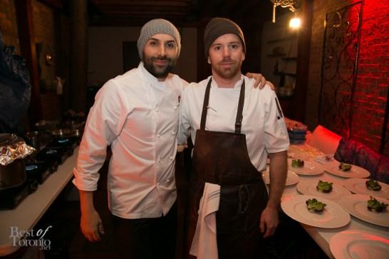 left: Chef Rob Gentile (Buca)