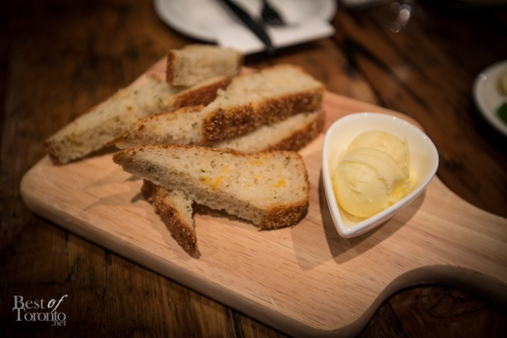 Table bread with butter