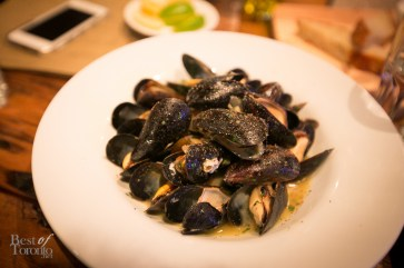 P.E.I. mussels with home made white wine broth