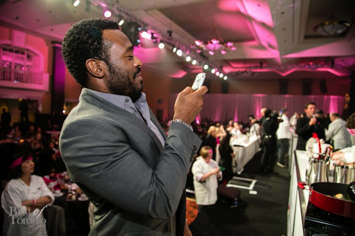 Lyriq Bent snapping some photos