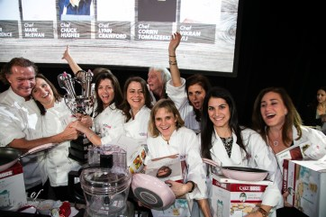 Team McEwan with the KitchenAid Cook for the Cure trophy