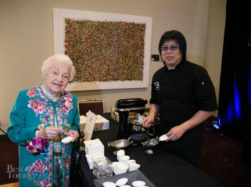 Hazel McCallion and Chef Alvin Leung