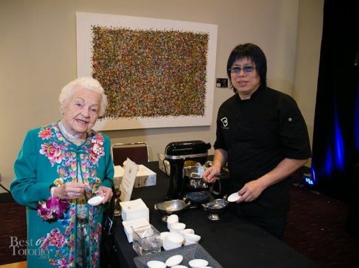 Hazel McCallion and Chef Alvin Leung