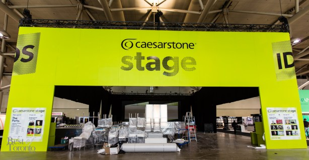 The Caesarstone Stage in preparation for the IDS opening night