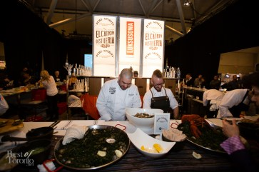 At the Caesarstone stage with oysters by Distillery Events