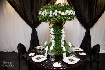 Table decor inside the bridal suite