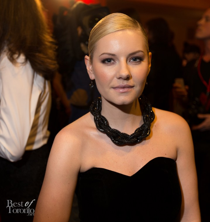 Elisha Cuthbert wearing an Atelier Swarovski necklace