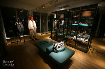 Inside the fitting room area at SuitSupply Toronto Photo: Nick Lee