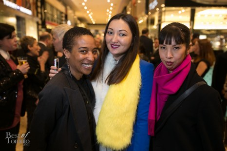 Fashion bloggers: Anita Clarke, R: Kimberly Lyn