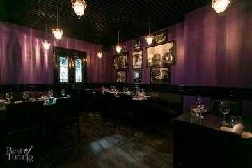 """""""The Purple Room"""", a semi-private space at E36"""