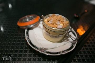 Lemon Custard with shortbread and macadamia